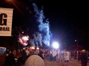 Marathon Start Fireworks