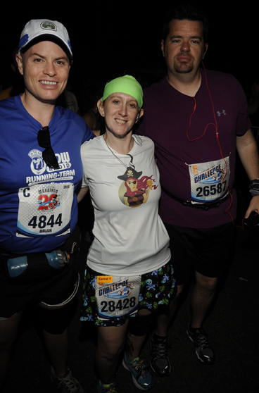 Me, Lori, and Mitch on Marathon Morning