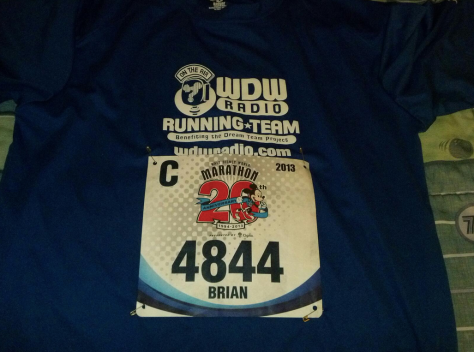 Bib pinned on the night before! Ready to go!