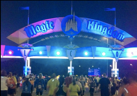 Running into The Magic Kingdom