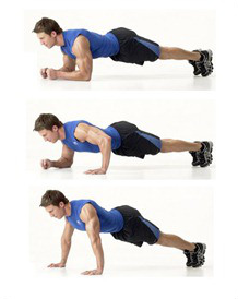 Transition from Low to High Plank position