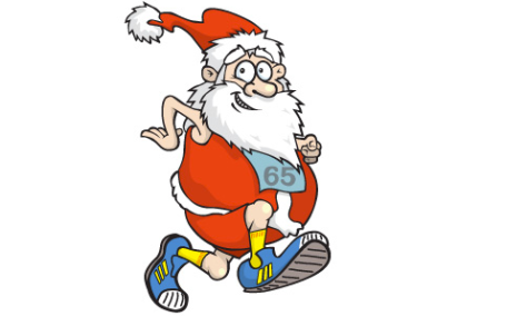 Santa is all finished with his world wide ultra marathon!