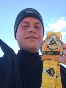 A chilly run for my fourth year running the Purdue Boilermaker Half Marathon